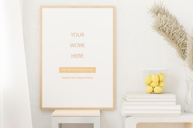 Moldura para fotos em branco de maquete para o seu projeto
