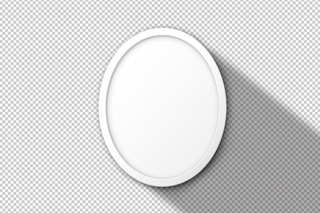 Moldura redonda branca isolada