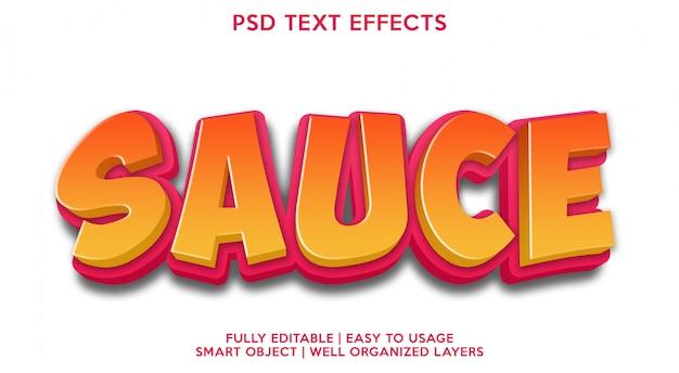 Molho modelo de efeitos de texto