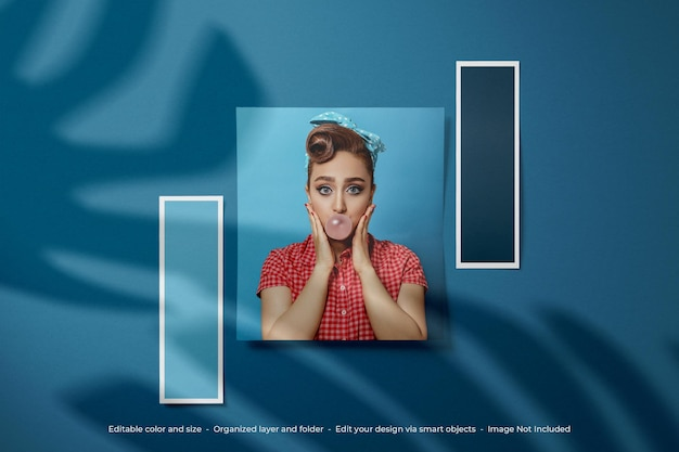 Moodboard photo polaroid mockup design