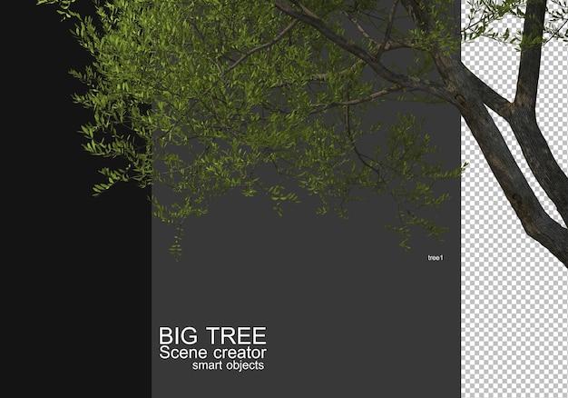 Mostra uma grande árvore de renderização de primeiro plano