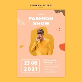 Mostrar modelo de pôster de moda masculina