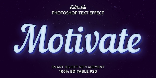 Motivar o efeito de estilo de texto editável do photoshop