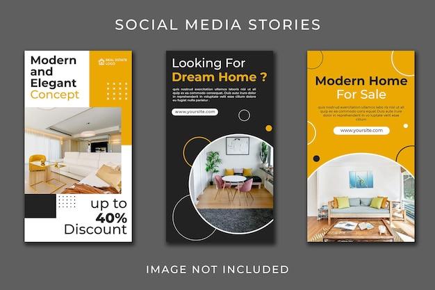 Móveis minimalistas da história do instagram para conjunto doméstico