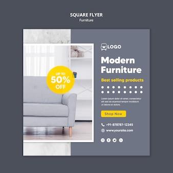 Móveis modernos em formato quadrado