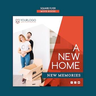 Mover casa flyer modelo concepe