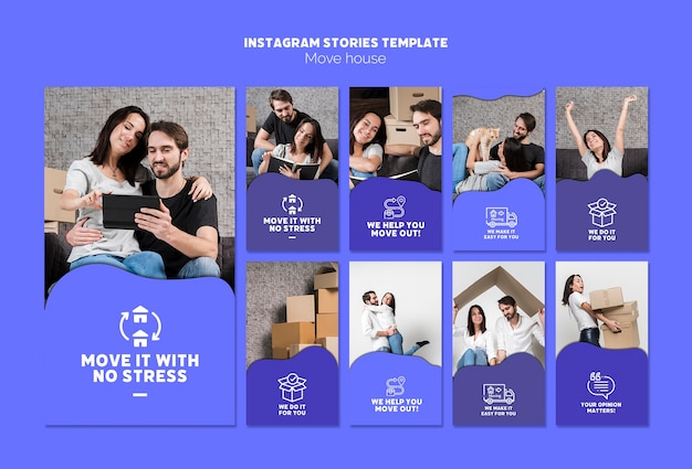 Mover casa instagram stories template