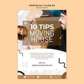 Mover design de folheto de casa