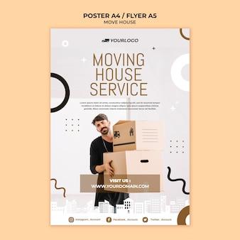 Mover estilo de panfleto de casa