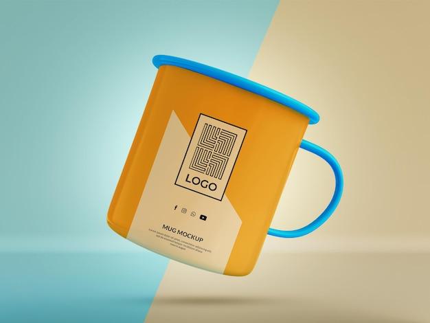 Mug mockup 3d render realistic