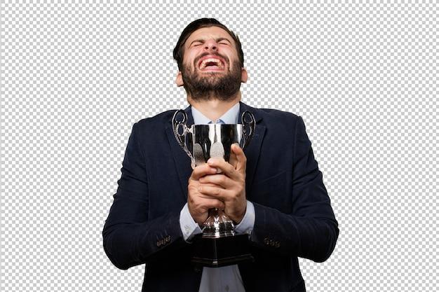 Mulher bonita sênior com avião de madeira