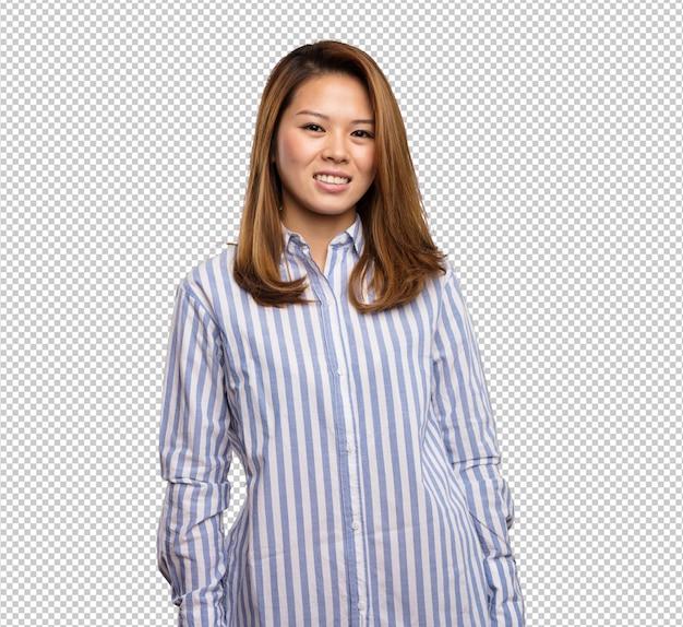 Mulher chinesa em pé