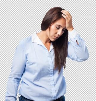Mulher deprimida isolada
