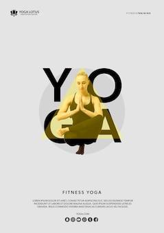 Mulher em yoga pose meditação