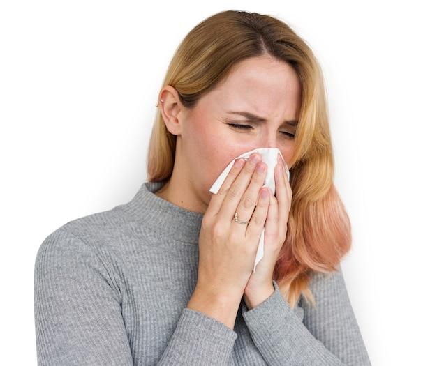 Mulher espirros