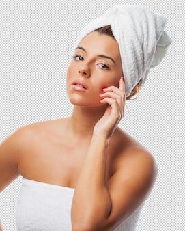 Mulher tomando um tratamento de spa