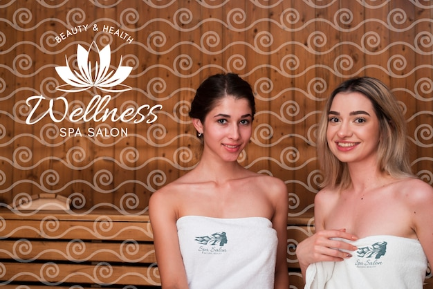 Mulheres no spa com tratamentos de beleza