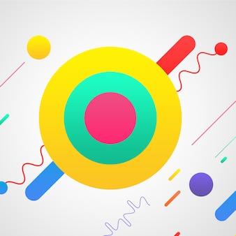Multicolor formas sobre fundo branco