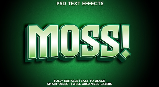 Musgo! modelo de efeito de texto