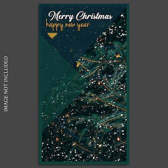 Natal e feliz ano novo 2019 foto mockup e instagram modelo de história para mídias sociais