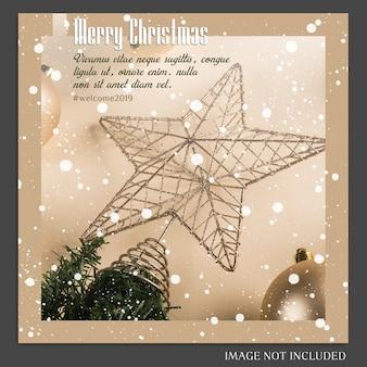 Natal e feliz ano novo 2019 foto mockup e instagram post template