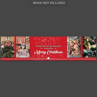 Natal e feliz ano novo banner modelo e foto mockup