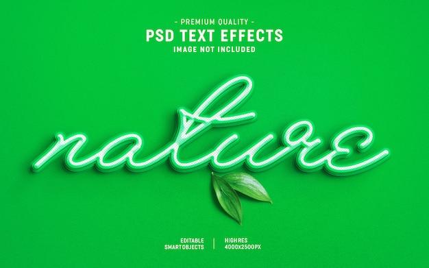 Natureza cor efeito de estilo de texto em camadas