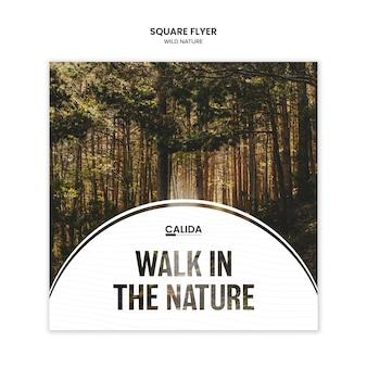Natureza selvagem panfleto quadrado