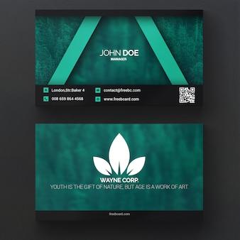 Natureza verde cartão de visita
