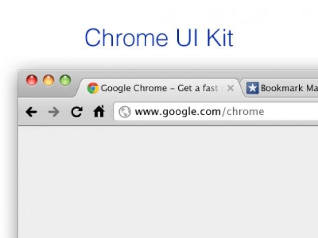 Navegador template google chrome ui kit