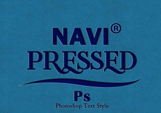 Navi pressione o efeito de estilo de texto