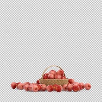 Nectarina renderização em 3d