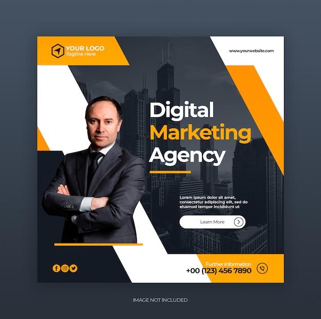 Negócio criativo digital marketing social media instagram banner modelo