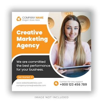 Negócios corporativos postagem no instagram de mídia social banner na web e modelo de design de folheto quadrado