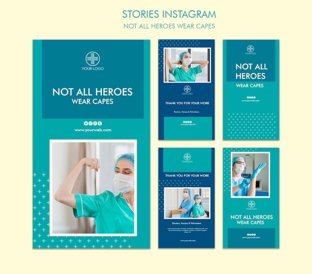 Nem todos os heróis usam capas no instagram stories