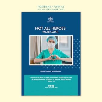 Nem todos os heróis usam design de cartaz de capas
