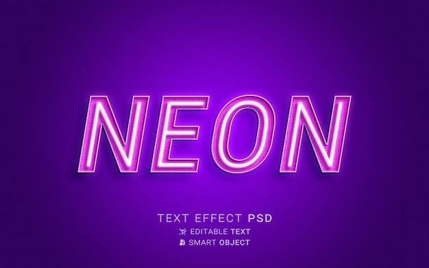 Néon de efeito de texto