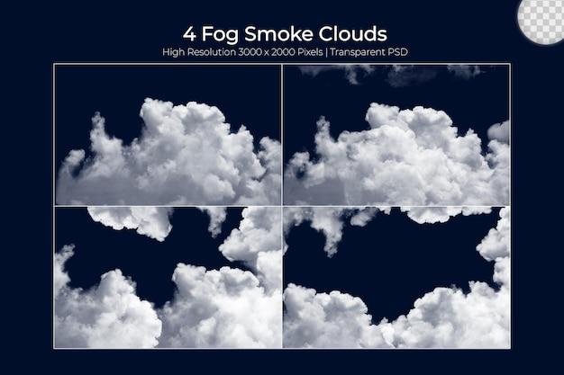 Nevoeiro realista vapor nevoeiro nuvens se