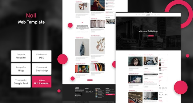 Noll blog web template