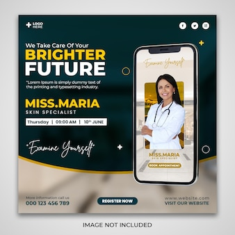 Nomeação para um futuro brilhante design de banner de mídia social