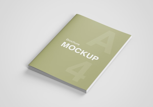 Nos carta brochura ou revista maquete