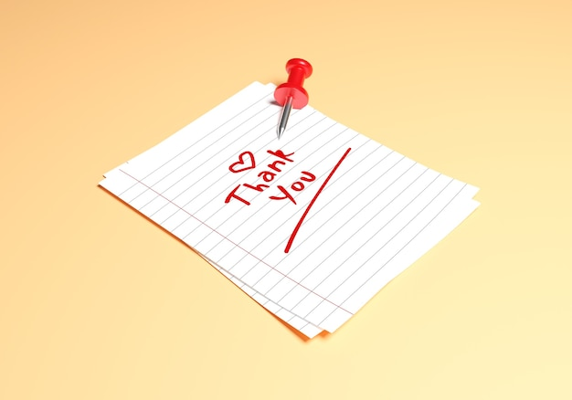 Nota de papel com alfinete vermelho na maquete de parede