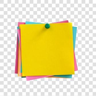 Notas em branco e coloridas com traçado de recorte.