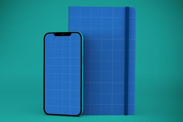 Notebook e modelo de smartphone