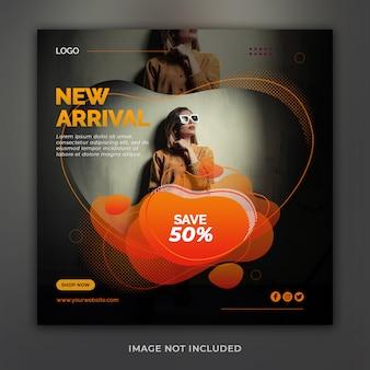 Nova chegada venda oferta instagram banner post
