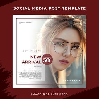 Nova chegada vermelha moda venda mídia social postar modelo