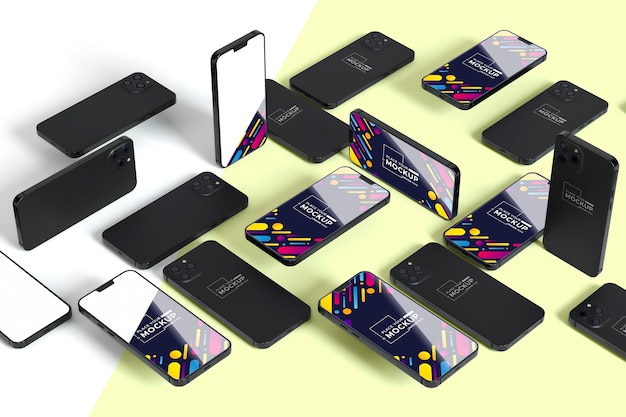 Nova coleção móvel com mock-up