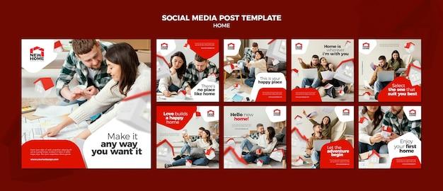 Nova postagem nas redes sociais domésticas