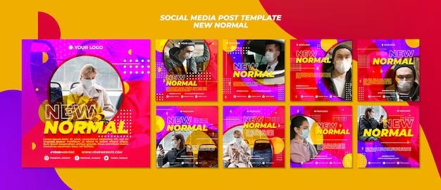 Nova publicação normal de mídia social