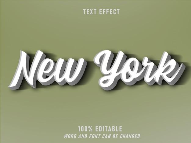 Nova york efeito estilo retro estilo editável vintage
